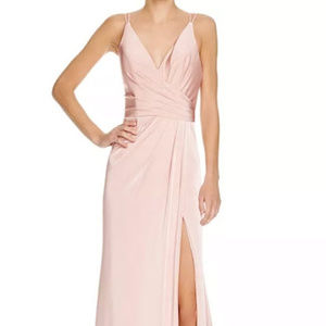 Faviana Couture Faille Satin Draped Gown Size 0